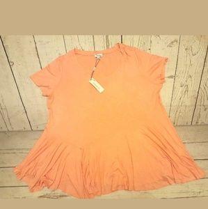 Symmetry Plus Size Blush Pink Blouse Size 3X
